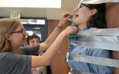 Stuck up:  West faculty help raise money for cancer patients