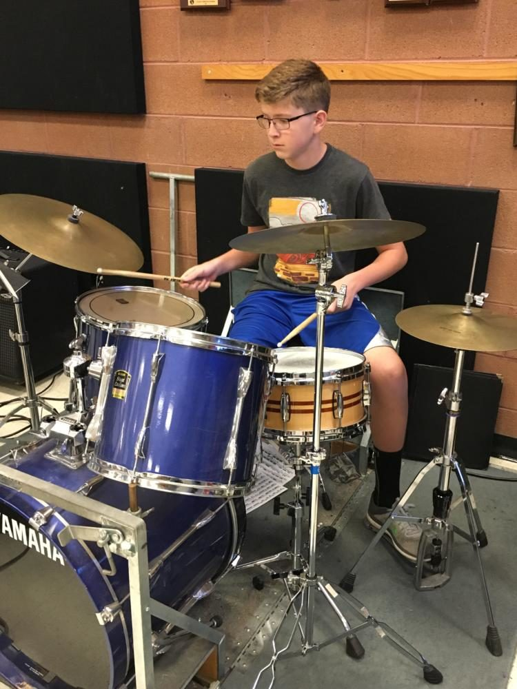 Student Shows Passion For Jazz Behind Drum Kit West Word