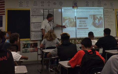 Mr. Brian Holmes kicks off the year teaching his health class.