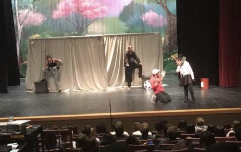Parking lot Shakespeare performance moved in doors by bad weather