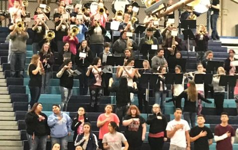 Pep band adds spirit to basketball games