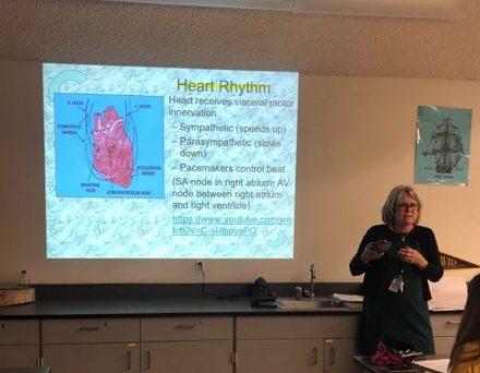 Ms. Cynthia Miller-Hughes teaches late last week.