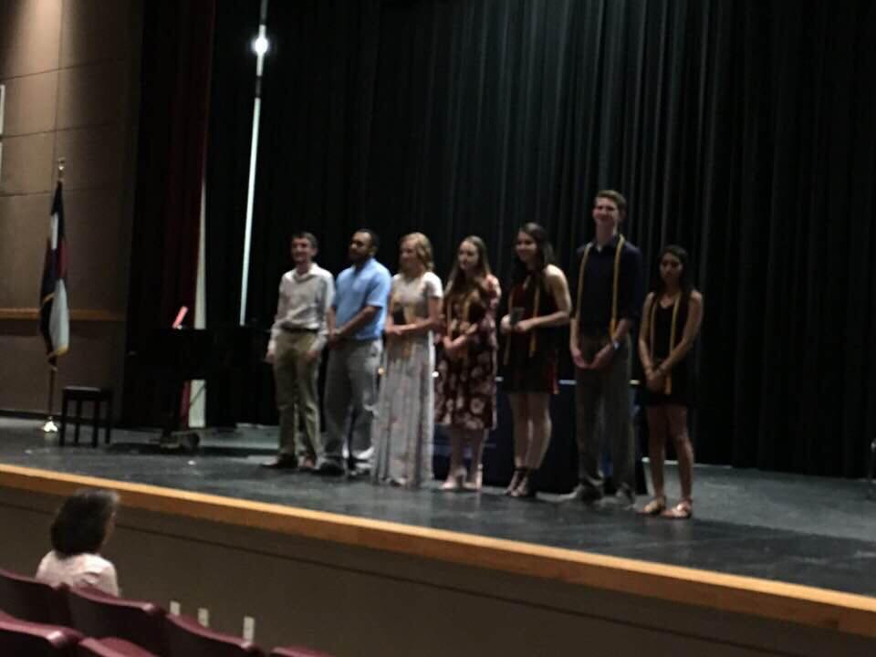 People say education brings light to the world, but for these Honor Crest winners, the auditorium remained dark.