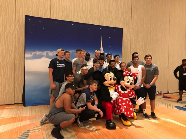 Members+of+the+Greeley+West+football+team+pose+for+a+picture+with+Mickey+and+Minnie+Mouse+at+Disney+World+during+their+recent+trip+to+Florida.