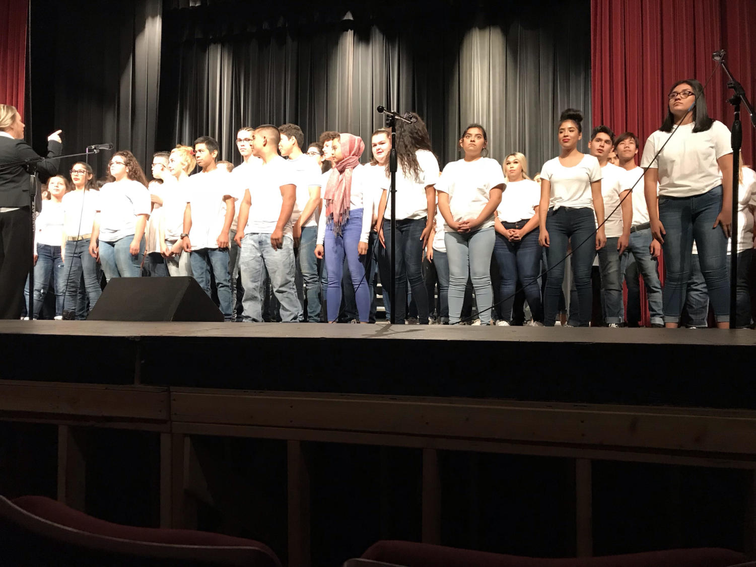 All Greeley West choirs came together to sing