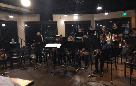 The Greeley West jazz band performs at Gourmet Grub on Monday, October 15.