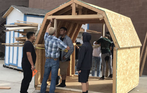 Construction trades classes will sell sheds at auction