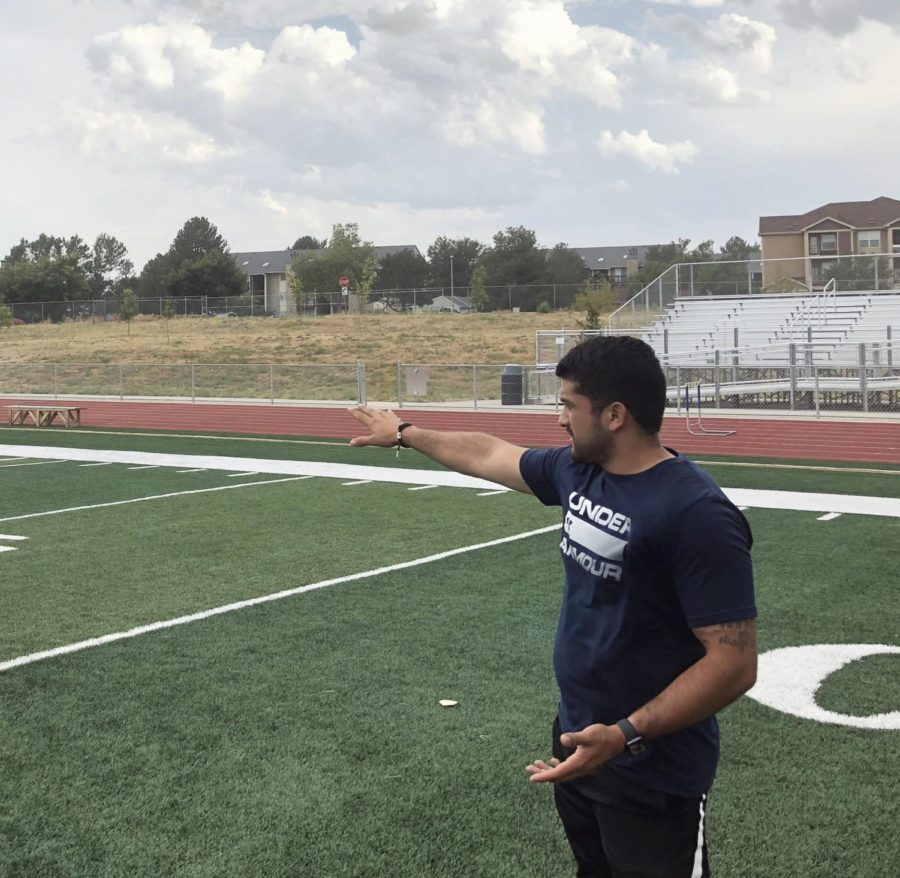 Greeley West assistant boys soccer coach Mr. Fernando Perez instructs his players at practice on Friday afternoon.  Perez was named the new girls soccer coach on Friday.