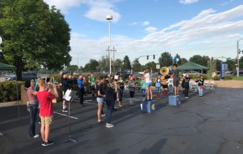 Poms, band use 4C kick-off celebration to fine-tune collaborative performance