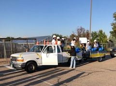 Greeley West AVID seniors decorate and prepare to hit the road during the Car Caravan during West-Central week.