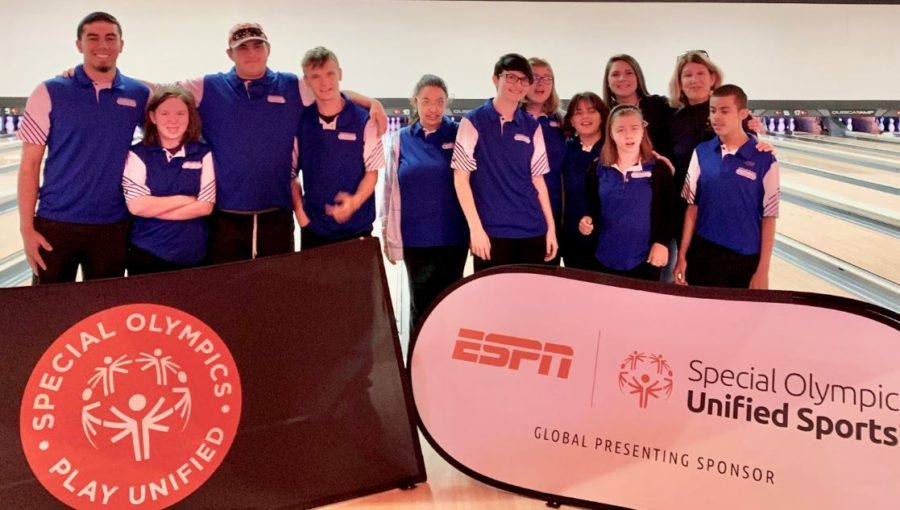 The Greeley West Unified bowling team poses for a picture at the state tournament earlier this month.
