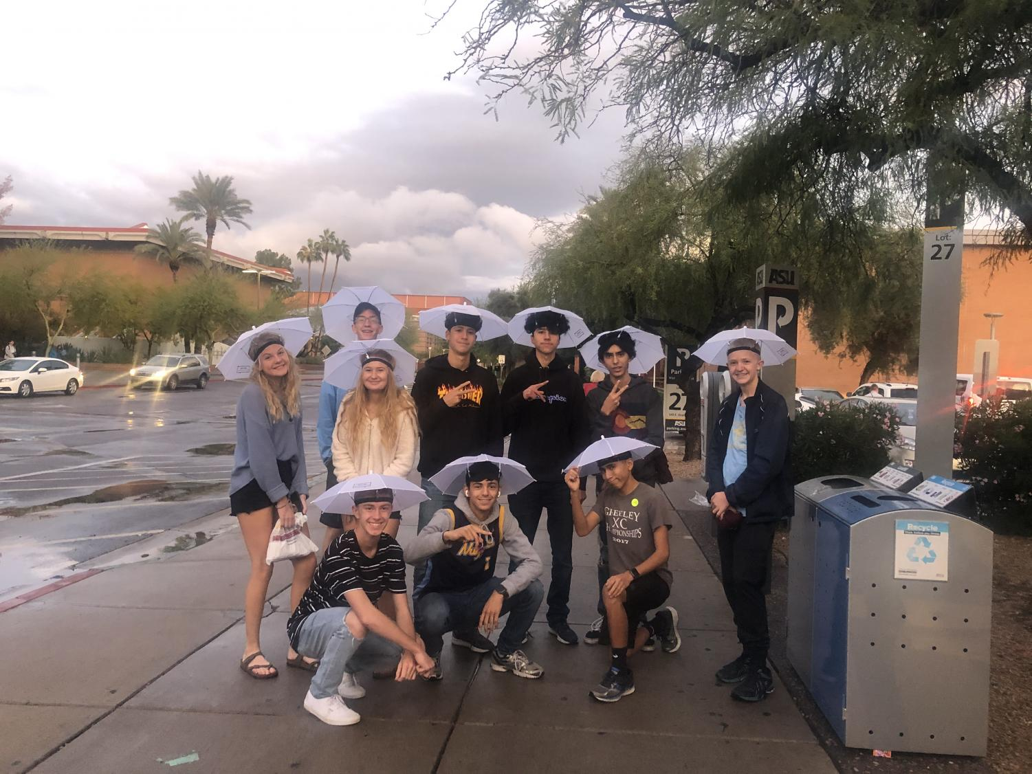 It rained on the cross country team during its trip to Arizona.
