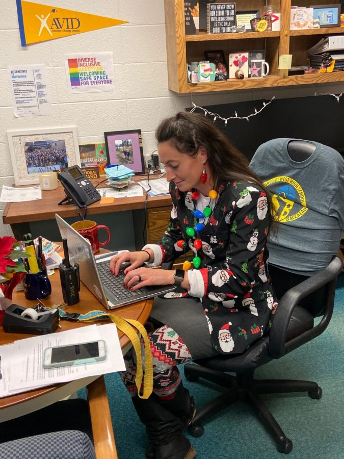 Ms. Amy Zulauf celebrates Christmas better than the rest, changing her wardrobe to be festive each December.