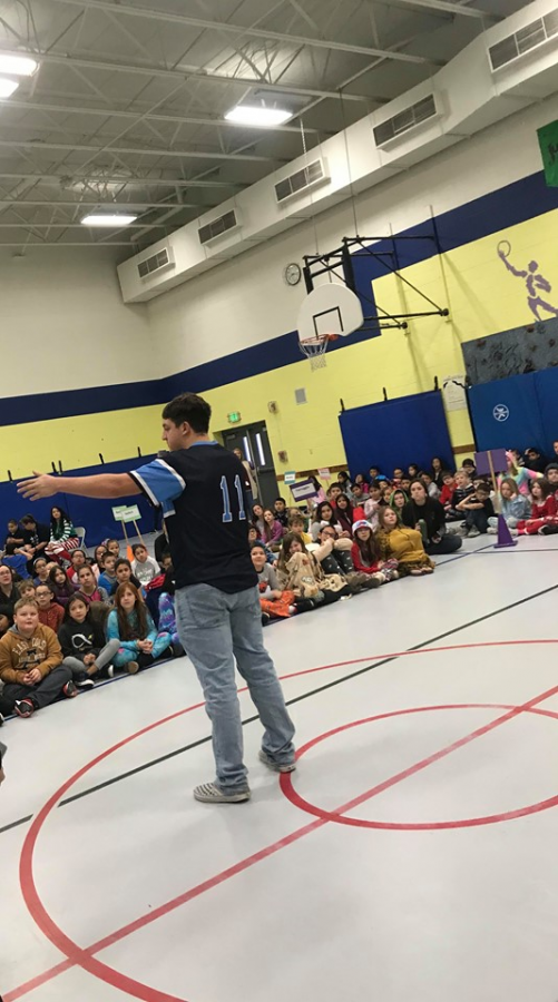 West students advocate for sportsmanship at local elementary school