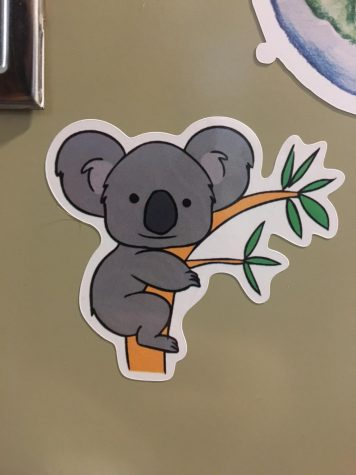 This is the sticker that the Environmental Club is selling to benefit relief efforts in Australia.