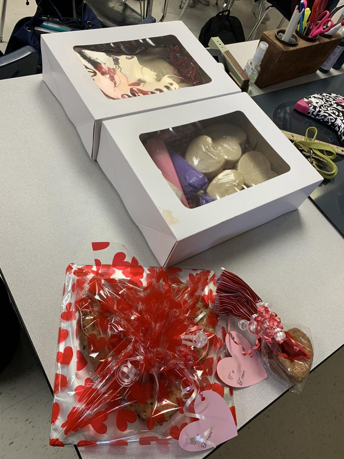 FCCLA is selling cookie decorating kits for Valentine's Day.  This is what it looks like!
