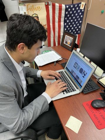 Senior Oscar Perez Luna searches the Internet looking for the next big thing has part of his business, Soled Out.  Perez buys low and sells high as a part-time job.