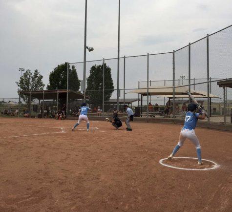 Bri Zamora goes up to bat while Aryssa Aragon is on deck.