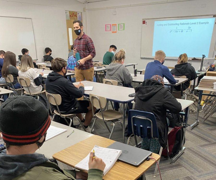 Mr. Tsaaron Roeder teaches students
