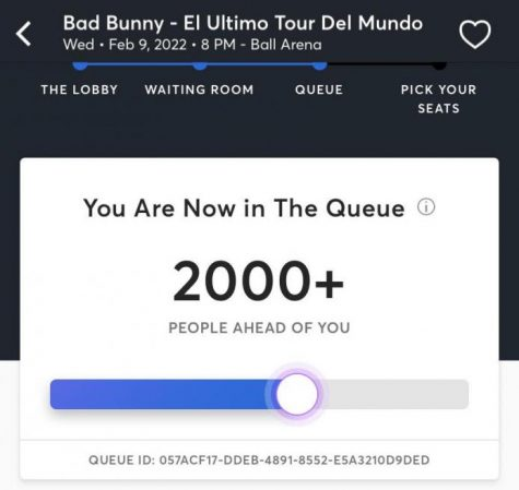 Being greeted with this graphic for Bad Bunny tickets meant I waited most of my afternoon to get some.