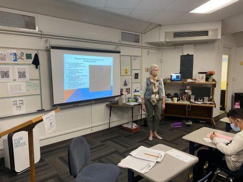 Ms. Rachel Hammer is teaching to the final bell.