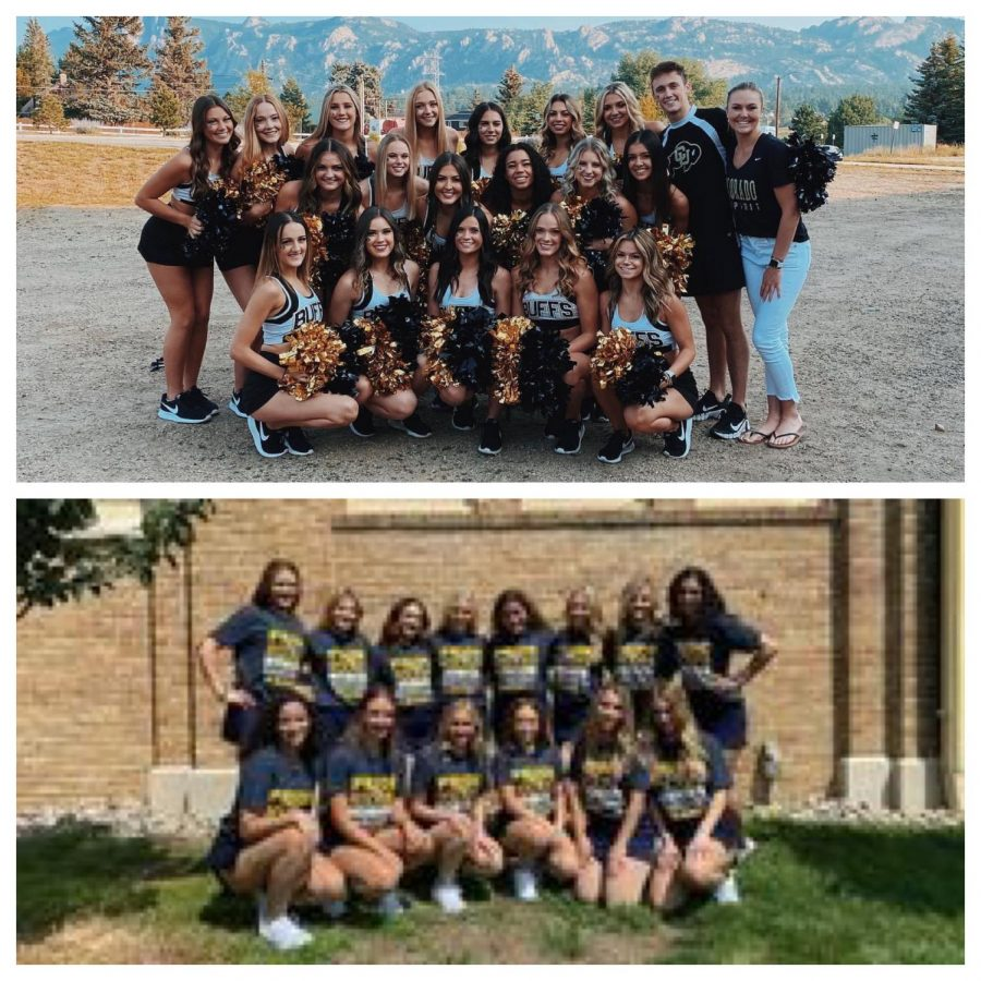 Previous Greeley West Poms members are pictured with their respective college dance teams.