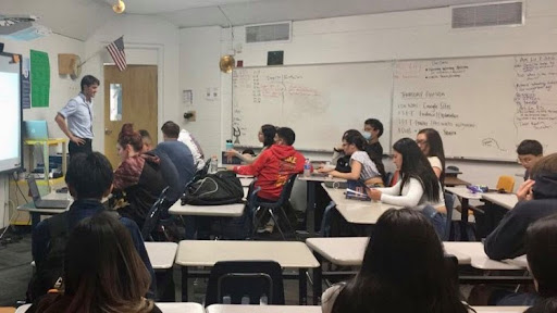 Mr. Garrett Leal teaches College Composition last week, just one of the dual enrollment classes Greeley West offers.